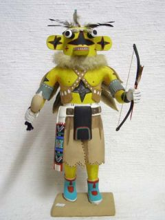 Antique Native American Hopi Carved Chasing Star Planetary Katsina Doll