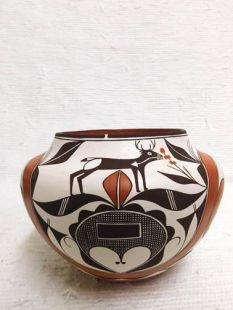 Native American Acoma Handbuilt and Handpainted Pot