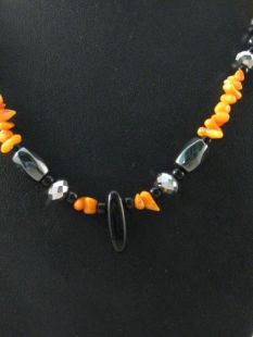 Native American Hopi Made Necklace with Shell and Beads
