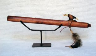 Native American Navajo Made Pine Flute--A Minor