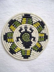 Native American Hopi Made Coil Plaque with Turtle