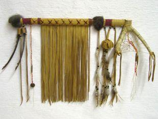 Native American Tohono O'odham Made Ceremonial Dreamcatcher Pipe