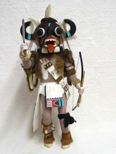 Antique Native American Hopi Carved Ogre's Uncle Katsina Doll