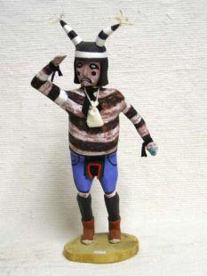 Antique Native American Hopi Carved Clown Katsina Doll