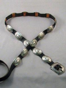Vintage Native American Navajo Made Concha Belt