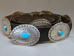 Native American Navajo Made Concho Belt