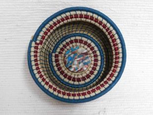 Native American Chippewa Basket--Ocean and Land