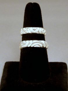 Native American Apache Made Sterling Cast Wedding Bands