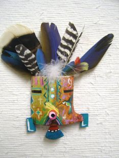 Native American Hopi Made Spirit Mask