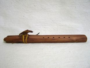 Native American Navajo Made Cedar Drone Flutes--A Minor
