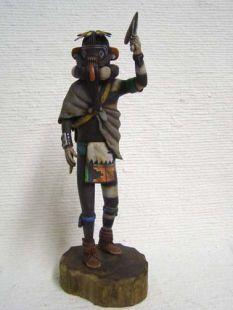 Native American Hopi Carved Left Handed Hunter Katsina Doll