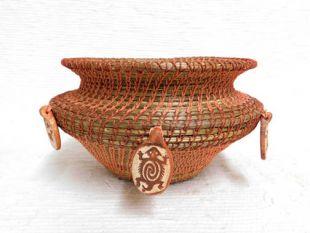 Native American Chippewa Basket - Petroglyph