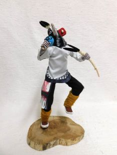 Native American Made Kokopelli Dancer Katsina Doll