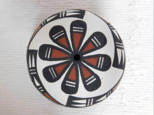Native American Acoma Handbuilt and Handpainted Seed Pot
