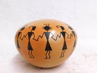 Native American Hopi Handbuilt and Handpainted Ant People Seed Pot