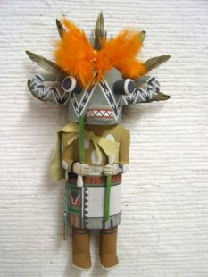 Old Style Hopi Carved Hoote Traditional Katsina Doll