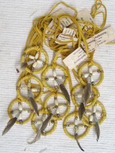 Native American Navajo Made Necklace with Medicine Wheel