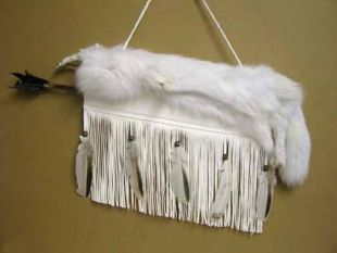 Native American Cherokee Made Arctic Fox Quiver with Arrows - Quiver