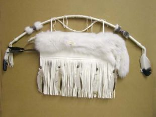 Native American Cherokee Made Arctic Fox Quiver with Arrows - Quiver with Bow