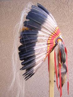 Native American Made Antiqued Warbonnet