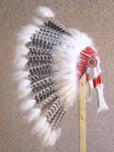Native American Made Barred Turkey Warbonnet