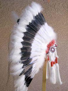 Native American Made Black Cloud Warbonnet