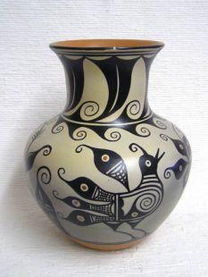 Native American Santo Domingo Handbuilt Polychrome Vase