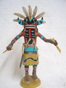 Antique Native American Hopi Carved Broadface Guard Katsina Doll