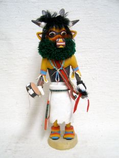 Antique Native American Zuni Carved Cow Katsina Doll