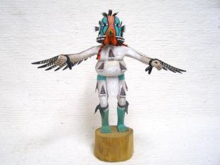 Antique Native American Hopi Carved Turkey Katsina Doll
