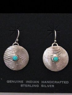 Native American Navajo Made Earrings withTurquoise