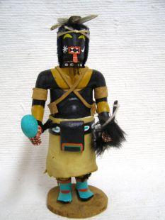 Antique Native American Hopi Carved Chakwaina Warrior Katsina Doll