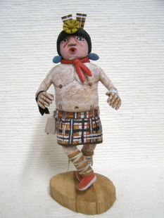 Native American Hopi Carved Cross Legged Handicapped Katsina Doll