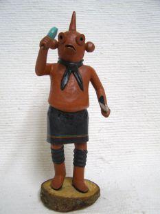 Antique Native American Hopi Carved Mudhead Katsina Doll
