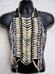 Native American Economy White Breastplate