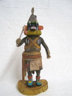 Native American Hopi Carved Proud Warrior Katsina Doll