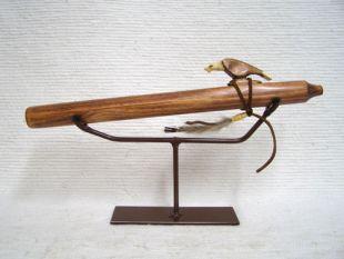 Native American Navajo Made Pine Pocket Flute--D Minor
