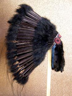 Native American Made Black Legend Warbonnet