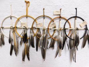 """6""""--Native American Navajo Made Medicine Wheel"""