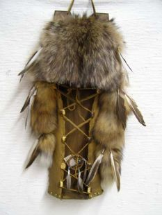 Native American Navajo Made Coyote Cradleboard