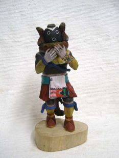 Native American Hopi Carved Greasy Racer Katsina Doll