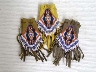 Native American Navajo Made Handbeaded Medicine Bag