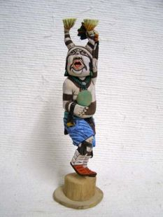 Native American Hopi Carved Clown Katsina Doll
