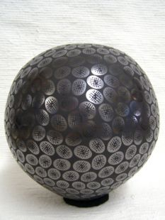 *Mata Ortiz Handbuilt and Handpainted Large Ball Pot