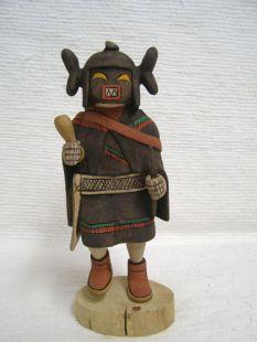 Native American Hopi Carved Chakwaina Warrior Maid Katsina Doll