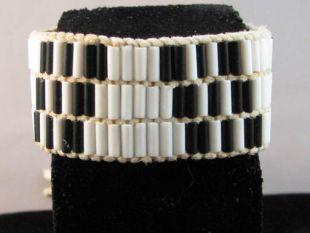 Native American Made Wampum Bracelet--3-Row Adoption
