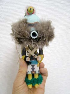 Old Style Hopi Carved Zuni Guard Katsina Doll