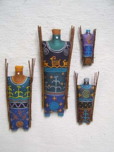 Navajo Yei God Soft Sculpture Dolls