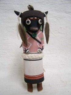 Old Style Hopi Carved Buffalo Traditional Dancer Katsina Doll