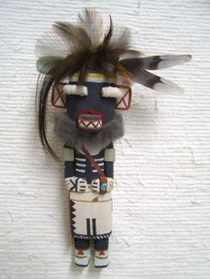 Old Style Hopi Carved Hair Hungry Traditional Racer Katsina Doll